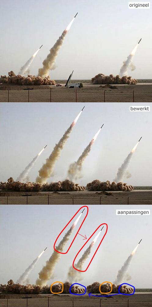 Iraanse raketten photoshop